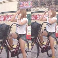 【自転車パンチラ画像】若い娘、ギャル、JK、お姉さんのチャリンコパンチラ集!サドルに密着するオマ◎コwwwww