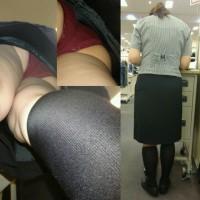 【盗撮パンチラ画像】危険顔出し有り!?働くお姉さん、真面目そうなOLのスカート逆さ撮りパンチラ画像wwwwwwww