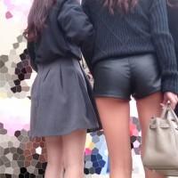 【パンチライン画像】ショーパン最高!パンツのラインが見えてる女の子を発見すると、近づいて撮影したくなるwwwwwwwww
