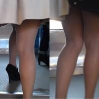 【ローアングル画像】ストッキングで美脚効果!通勤途中にOLさんのエロい脚隠し撮りしてみたwwwwwwww