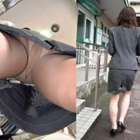 【パンチラ画像】毎日出勤途中、OLさんのストッキング足を見てムラムラする奴、隙あらば逆さ撮りとかwwwwww