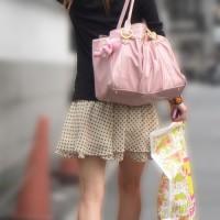 【顔出しパンチラ画像】ザ・ストーキングパンツ盗撮!クリクリお目目のキャバ嬢を追っかけて隠し撮りwwwwwww