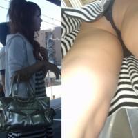 【駅でパンチラ画像】顔出しで抜けるパンツ盗撮!電車待ちの女の子ギャルを次々逆さ撮りwwwwww