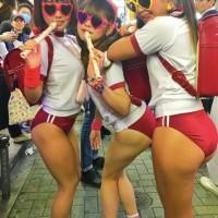 【街中エロ画像】渋谷はひどい!日本のハロウィンはギャル達の露出イベントか!全員風俗嬢に見えるwwwww